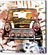 1960s Mini Cooper Acrylic Print by David Ridley