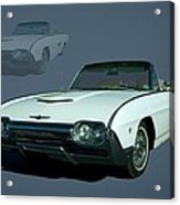 1963 Ford Thunderbird Convertible Acrylic Print by Tim McCullough