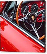 1964 Porsche 356 Carrera 2 Steering Wheel Acrylic Print by Jill Reger