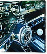 1965 Shelby Prototype Ford Mustang Steering Wheel Emblem 2 Acrylic Print by Jill Reger