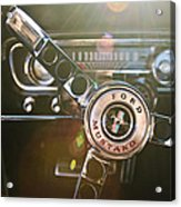 1965 Shelby Prototype Ford Mustang Steering Wheel Emblem Acrylic Print by Jill Reger