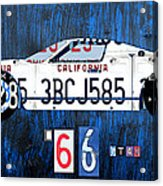 1966 Ford Gt40 License Plate Art By Design Turnpike Acrylic Print by Design Turnpike