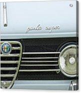 1968 Alfa Romeo Giulia Super Grille Acrylic Print by Jill Reger