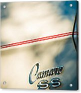 1969 Chevrolet Camaro Rs-ss Indy Pace Car Replica Side Emblem Acrylic Print by Jill Reger