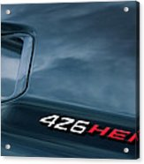 1971 Dodge Hemi Challenger Rt 426 Hemi Emblem Acrylic Print by Jill Reger