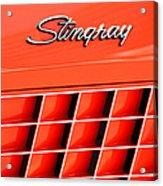 1972 Chevrolet Corvette Stingray Emblem 3 Acrylic Print by Jill Reger