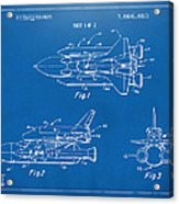 1975 Space Shuttle Patent - Blueprint Acrylic Print by Nikki Marie Smith