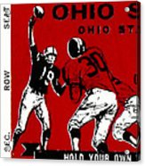1979 Ohio State Vs Wisconsin Football Ticket Acrylic Print by David Patterson