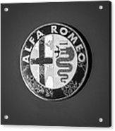 1986 Alfa Romeo Spider Quad Emblem Acrylic Print by Jill Reger