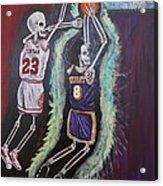 1997 Kobe Vs Jordan Acrylic Print by Visual  Renegade Art
