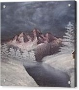 1st Painting 2-27-1991 Acrylic Print by Rhonda Lee