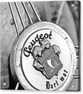 1937 Peugeot 402 Darl'mat Legere Special Sport Roadster Recreation Steering Wheel Emblem Acrylic Print by Jill Reger