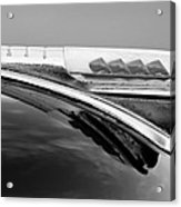 1947 Plymouth Hood Ornament Acrylic Print by Jill Reger