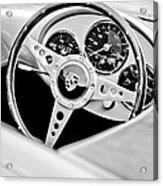 1955 Porsche Spyder Replica Steering Wheel Emblem Acrylic Print by Jill Reger