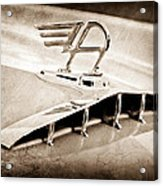 1957 Austin Cambrian 4 Door Saloon Hood Ornament Acrylic Print by Jill Reger