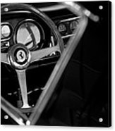 1967 Ferrari 275 Gtb 4 Steering Wheel Emblem Acrylic Print by Jill Reger