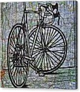 Bike 4 On Map Acrylic Print by William Cauthern
