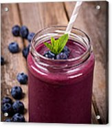 Blueberry Smoothie Acrylic Print by Jane Rix