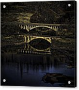 2 Bridges At Dusk Acrylic Print by Dale Stillman