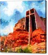 Chapel Of The Holy Cross Sedona Arizona Red Rocks Acrylic Print by Amy Cicconi