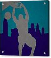 Charlotte Hornets Acrylic Print by Joe Hamilton