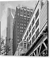 Chicago Loop 'l' Acrylic Print by Christine Till