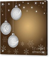 Christmas Background Acrylic Print by Michal Boubin