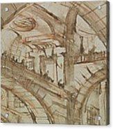 Drawing Of An Imaginary Prison Acrylic Print by Giovanni Battista Piranesi