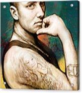 Eminem - Stylised Drawing Art Poster Acrylic Print by Kim Wang