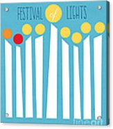 Festival Of Lights Acrylic Print by Linda Woods