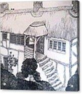 Garden Cottage Acrylic Print by Diane Fine