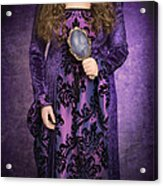 Gothic Woman Acrylic Print by Amanda And Christopher Elwell