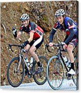Gran Fondo Bike Ride Acrylic Print by Susan Leggett