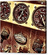 Grunge Gauges  Acrylic Print by Olivier Le Queinec