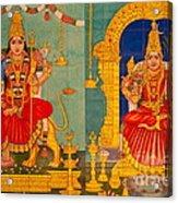 Hindu God Acrylic Print by Niphon Chanthana