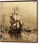 Historic Seaport Schooner Acrylic Print by John Stephens