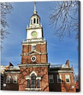 Independence Hall In Philadelphia Acrylic Print by Olivier Le Queinec