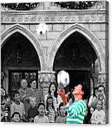 Juggler In Epcot Center Acrylic Print by Jim Hughes