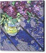 Lilacs Acrylic Print by Gloria  Nilsson