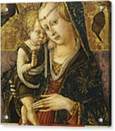 Madonna And Child Acrylic Print by Carlo Crivelli