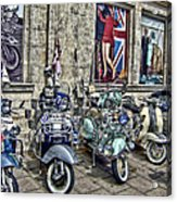 Mod Scooters And 60s Fashion Acrylic Print by Jasna Buncic