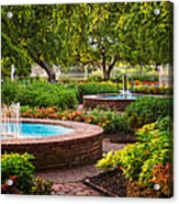 Morning Garden Acrylic Print by Jeff Sinon