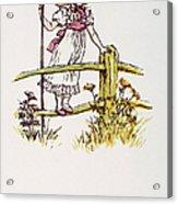 Mother Goose: Bo-peep Acrylic Print by Granger