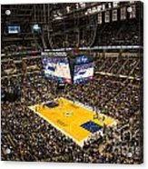 Pacers Indiana Acrylic Print by David Haskett