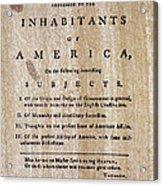 Paine: Common Sense, 1776 Acrylic Print by Granger
