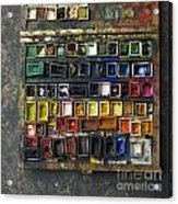 Paint Box Acrylic Print by Bernard Jaubert