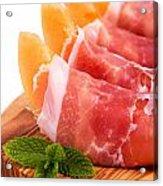 Parma Ham And Melon Acrylic Print by Jane Rix