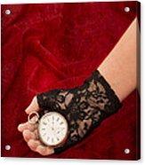 Pocket Watch Acrylic Print by Amanda Elwell