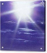 'purple Aura' Acrylic Print by Christian Chapman Art