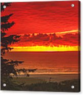 Red Pacific Acrylic Print by Robert Bales